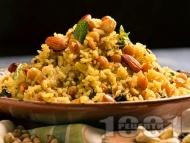 Рецепта Веган пилаф с ориз Басмати, бадеми и стафиди